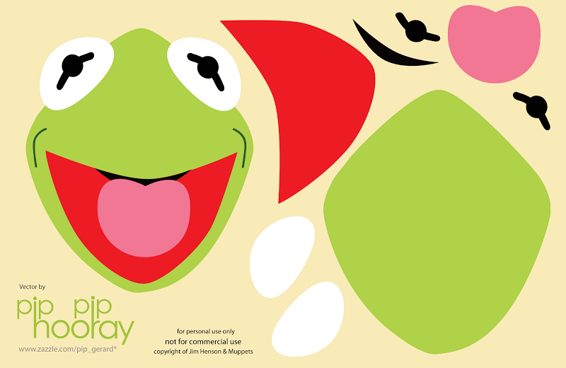 free kermit the frog template ornaments pinterest party ideas