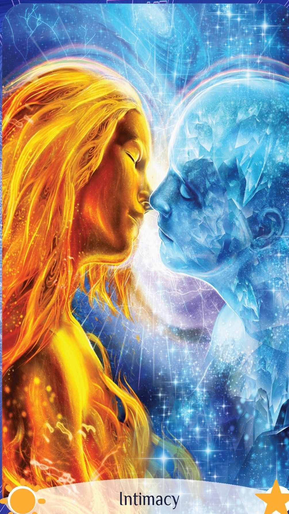 Chakra reading cards intimacy twin flame art flame