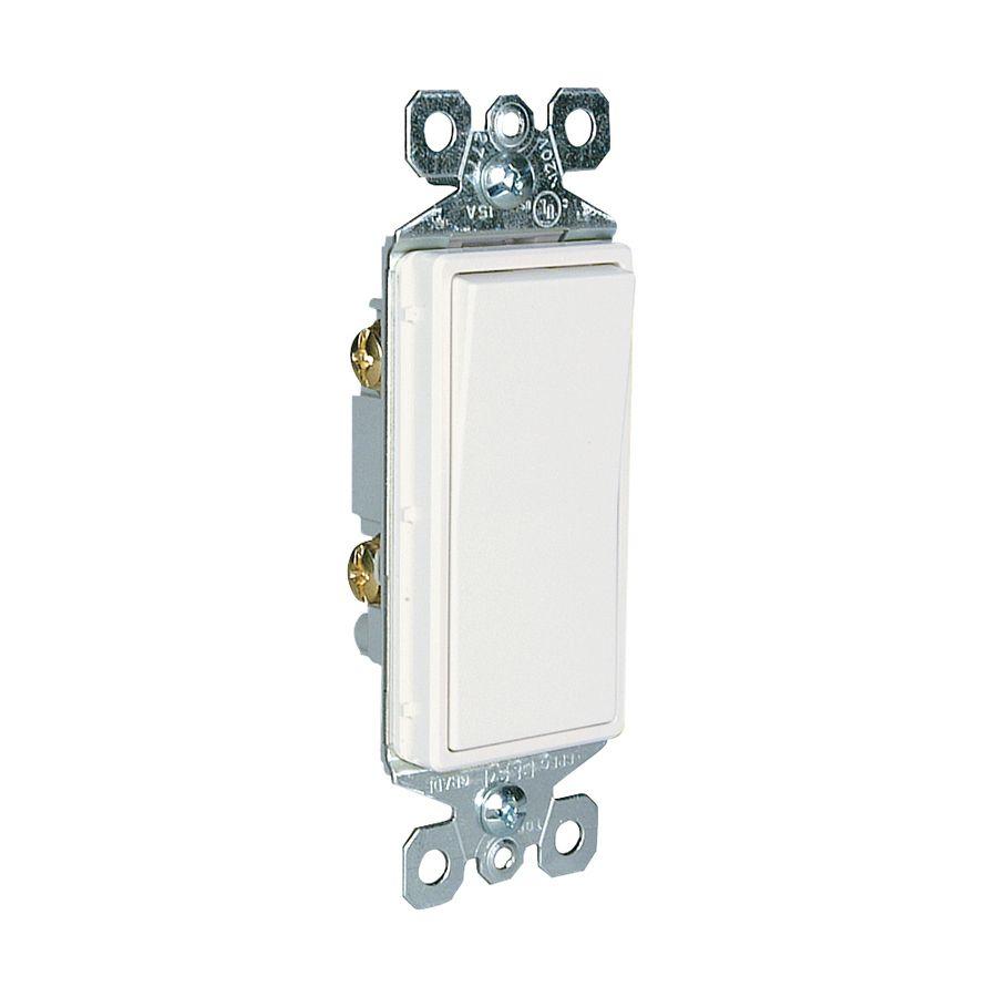 Legrand radiant pack amp single pole white indoor rocker light