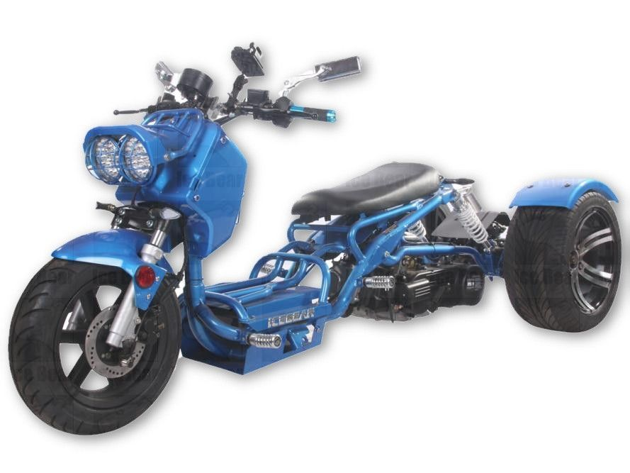 Brand New Trike Ruckus 150cc Single Cylinder 4 Strokes Transmission Automatic Air Cooled 12 In Front Wheel 14 In Rear Wheel Trike Trike Scooter 150cc