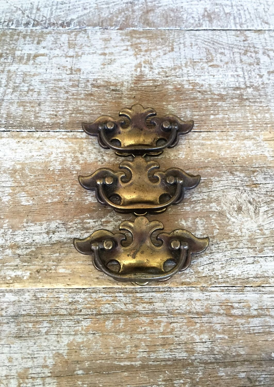 Drawer Handles 3 Chippendale Drawer Pulls Antique Hardware Brass Handles Vintage Dresser Hardware Salva Antique Hardware Dresser Hardware Vintage Drawer Pulls