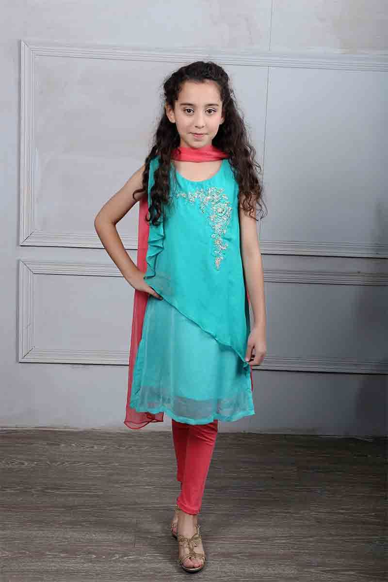 Maria B Kids Party Dresses For Wedding In 2018 | Blue party dress ...