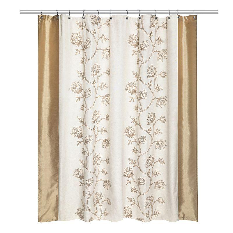 Popular Bath Maddie Shower Curtain Beig Green Beig Khaki