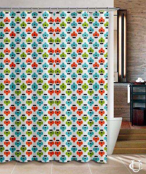 Orla Kiely Patern Flower Cute Inspirate Design Shower Curtain