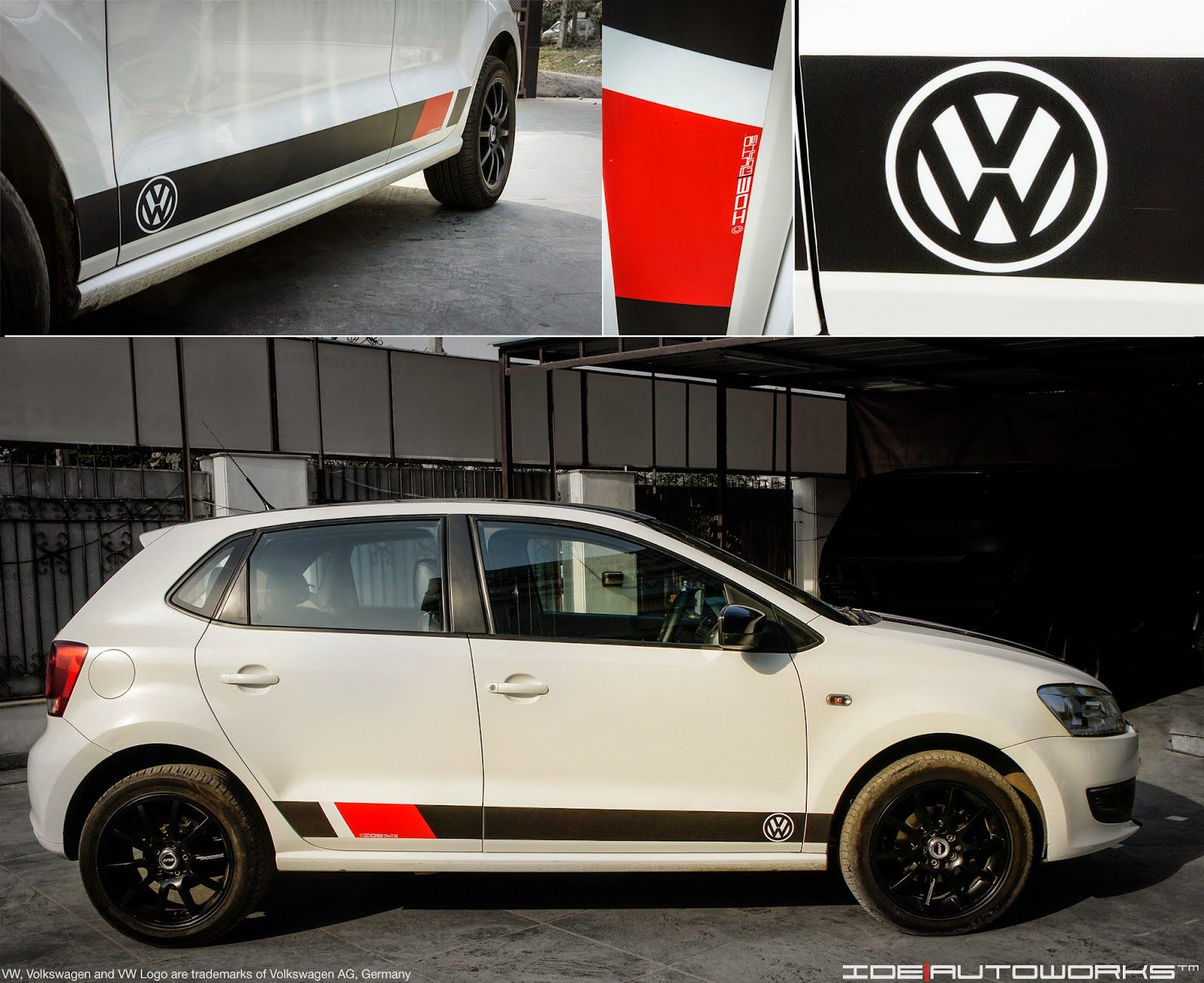 Ide autoworks vw polo with custom racing graphics