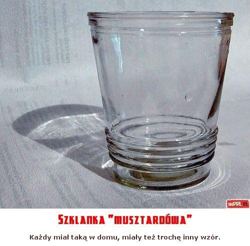 """Szklanka """"musztardówa"""""""
