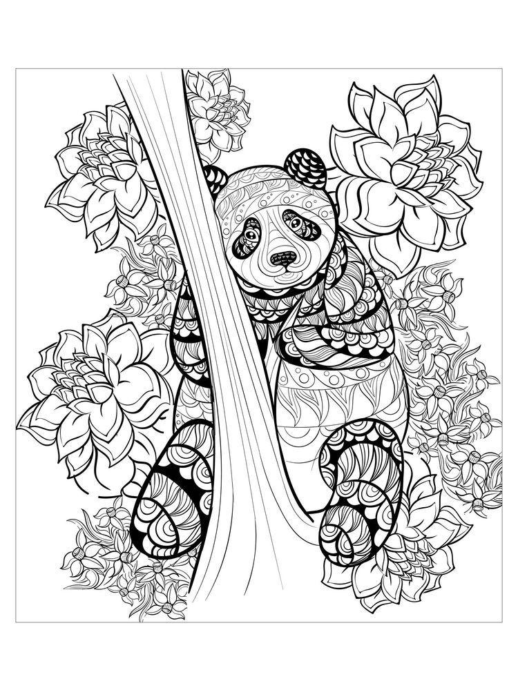 Combo Panda Coloring Pages Printable. Panda is a China