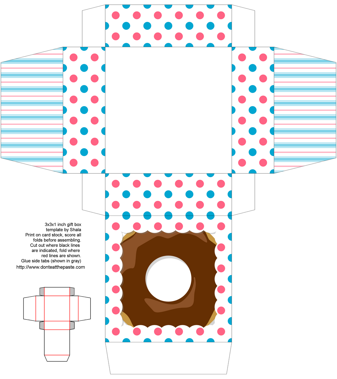 donut ...LOVE IT!! | The world of Paper | Pinterest | Printable box ...