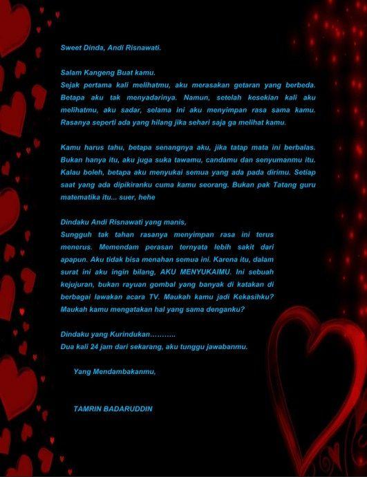 Contoh Surat Cinta Ungkapan Perasaan Sayang Format Word