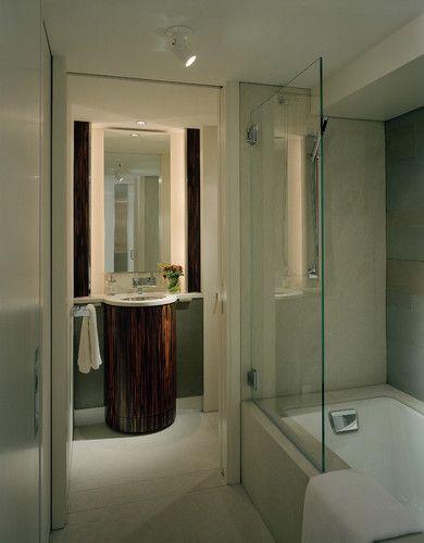 Half glass and tub idea: Master Bathroom & Vanity - modern - bathroom - seattle - Garret Cord Werner