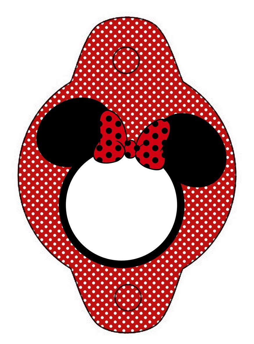 Minnie in Red: Free Printables and Party Invitations. Right click ...
