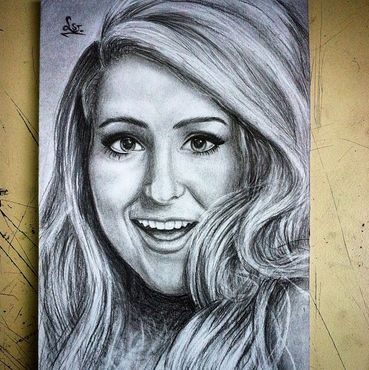 Awesome Drawing Of Meghan Celebrity Drawings Cool