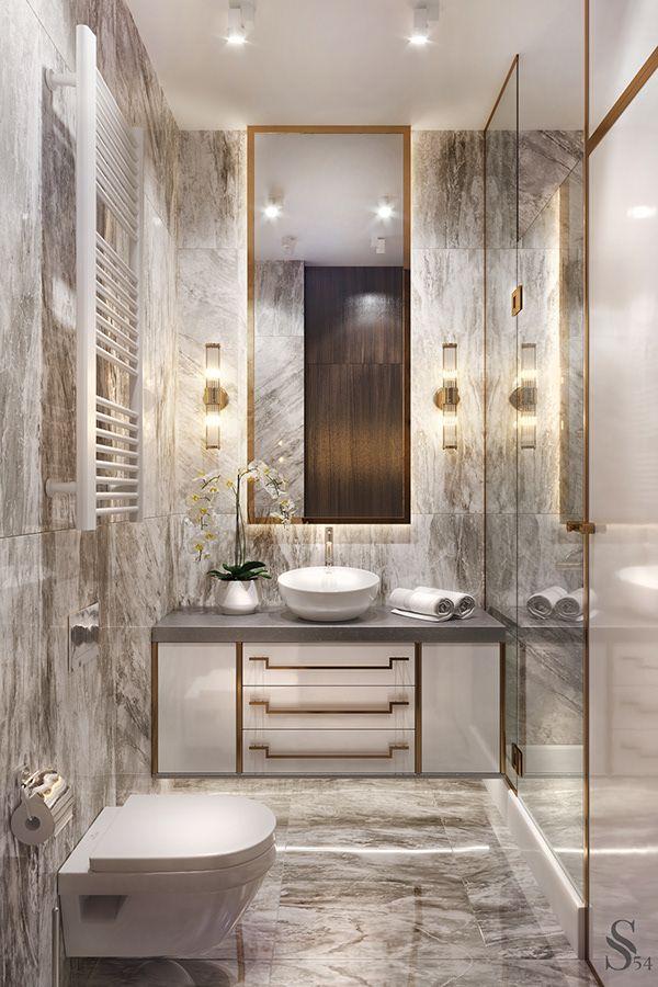 APARTMENT IN SAINT-PETERSBURG   Luxury powder room, Modern ...