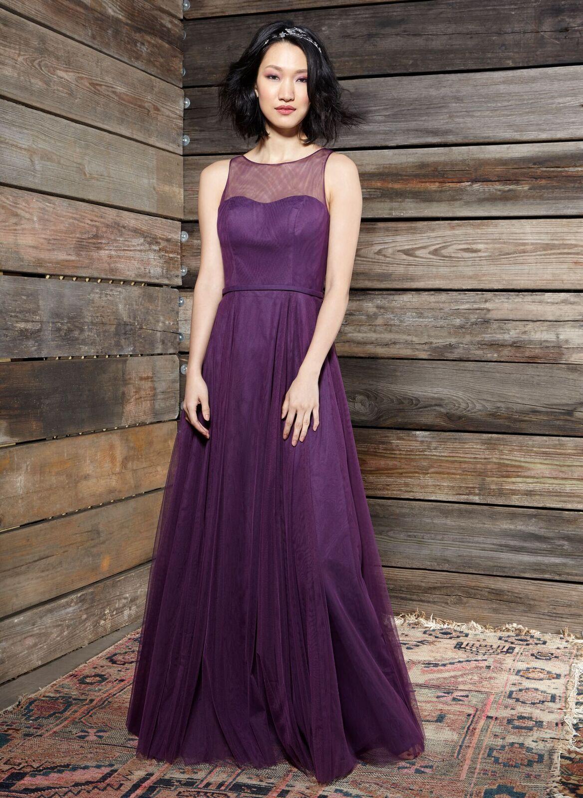 Dark purple wedding dress  The Cora bridesmaid dress in dark purple  IvyAndAsterBridesmaids