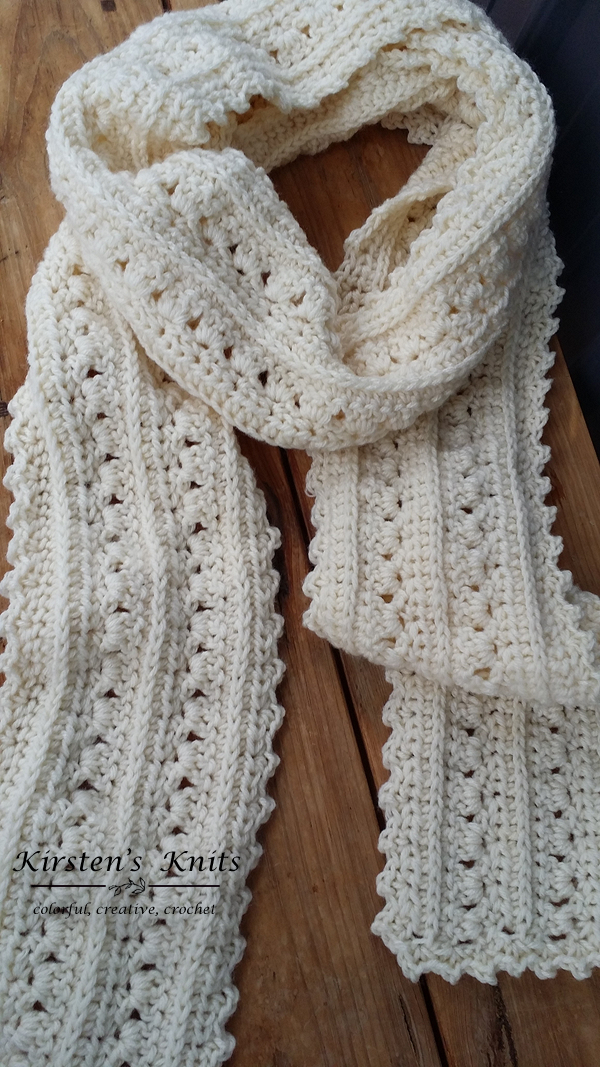 Free crochet pattern for Primrose and Proper super scarf at ...