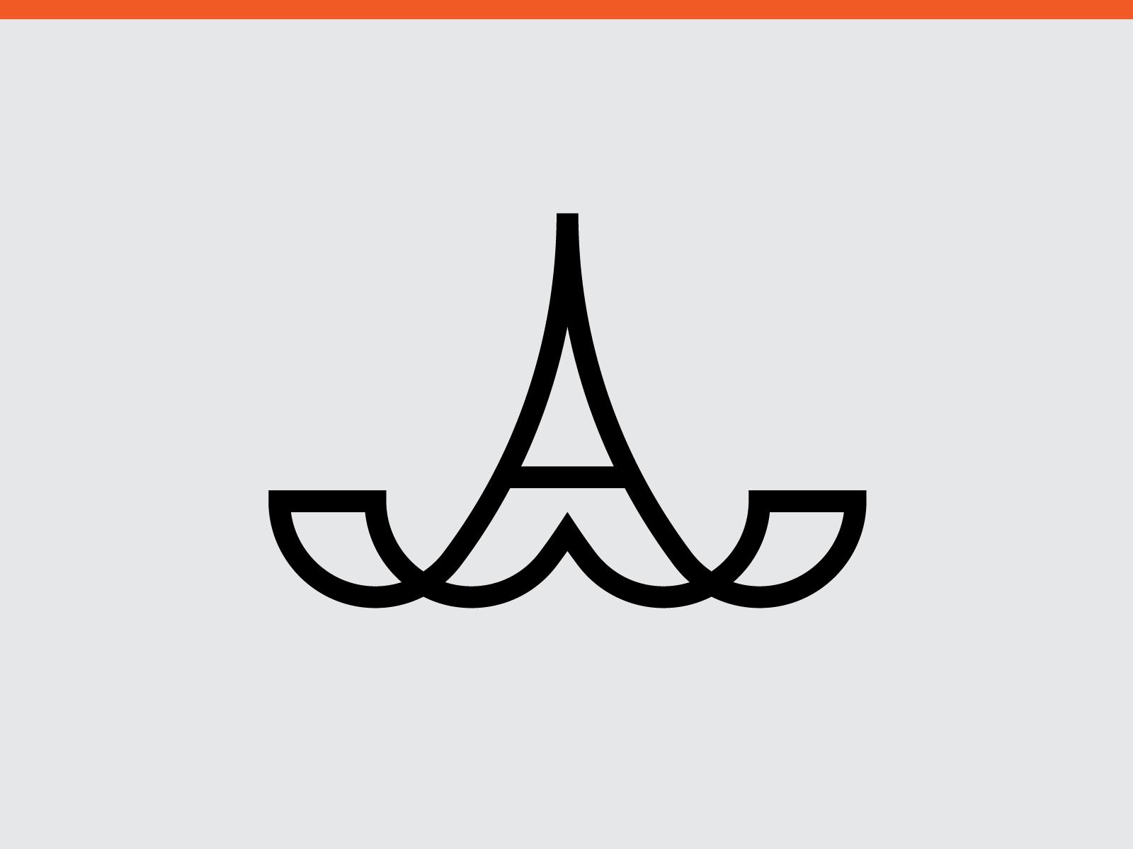 A Series Logomark 02 By Alex Amaya Gaming Logos Logos Atari Logo