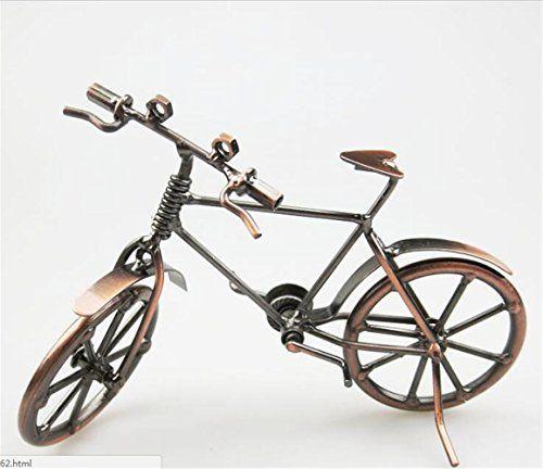 MYTANGCreative Office Desktop Accessories Harley Davidson Metal Bicycle  Model Artwork BK01