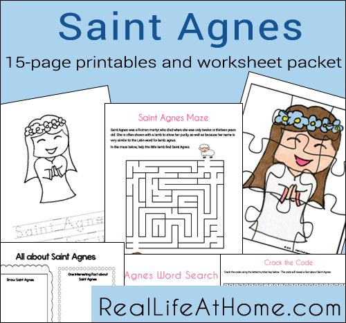 St Agnes Pictures Printable - Worksheet & Coloring Pages