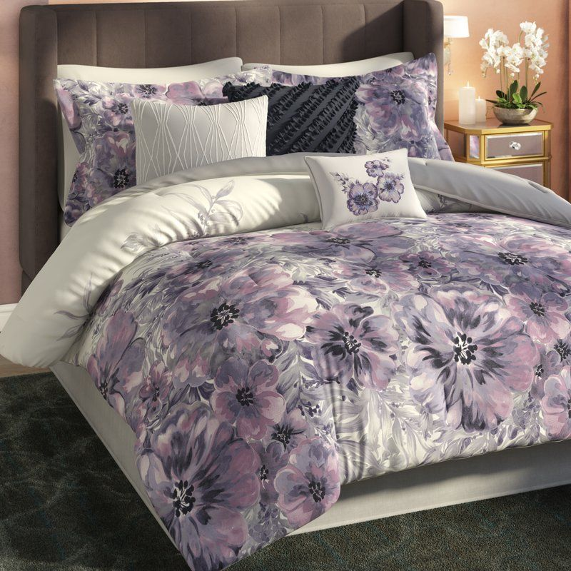 Teegan Floral 7 Piece Comforter Set Comforter Sets Duvet Cover Sets Duvet Covers