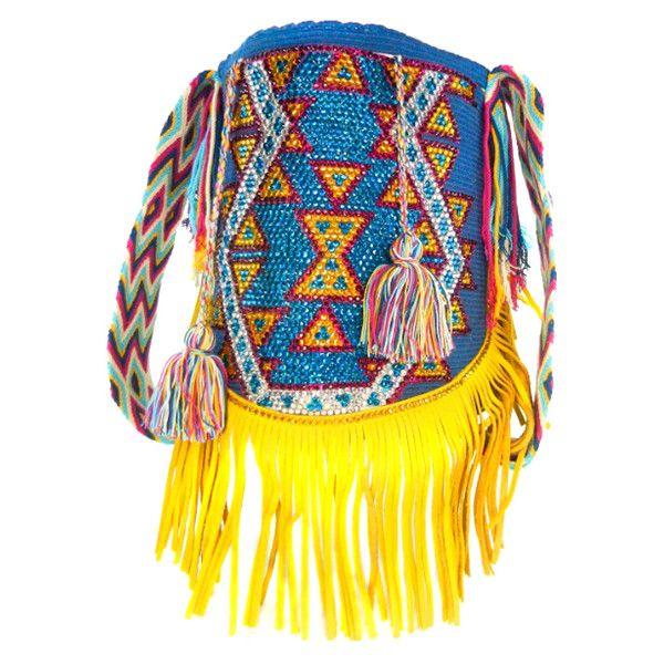 LUXCHILAS Gypsy Wayuu Luxury Mochila (1.481.410 COP) ❤ liked on Polyvore featuring bags, handbags, shoulder bags, leather handbags, leather shoulder bag, leather cross body purse, leather shoulder handbags and crossbody handbags