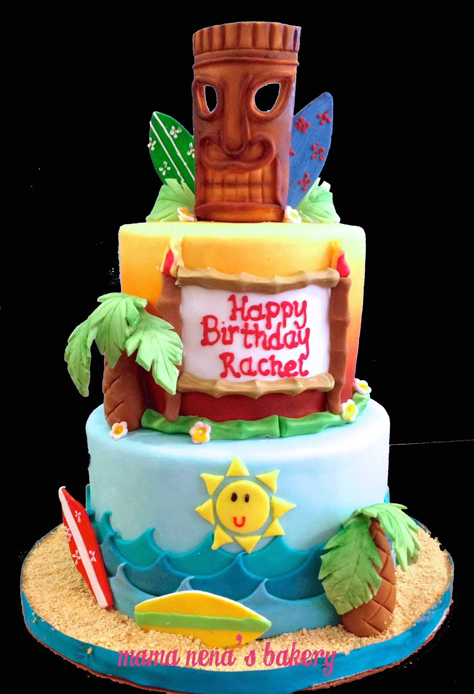 Tiki Cake Hula Birthday Party