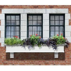 Mayne Yorkshire 12 In X 72 In Vinyl Window Box 4826w At The Home Depot Yorkshire Window Box Window Planter Boxes Window Planters