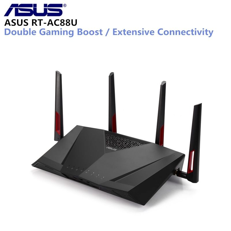 Original Asus Rt Ac88u Wireless Router Mimo Technology Dual Band Network Wifi Repeater 1800mbps Support Vpn Ieee 802 11n G B A R Wireless Router Asus Dual Band