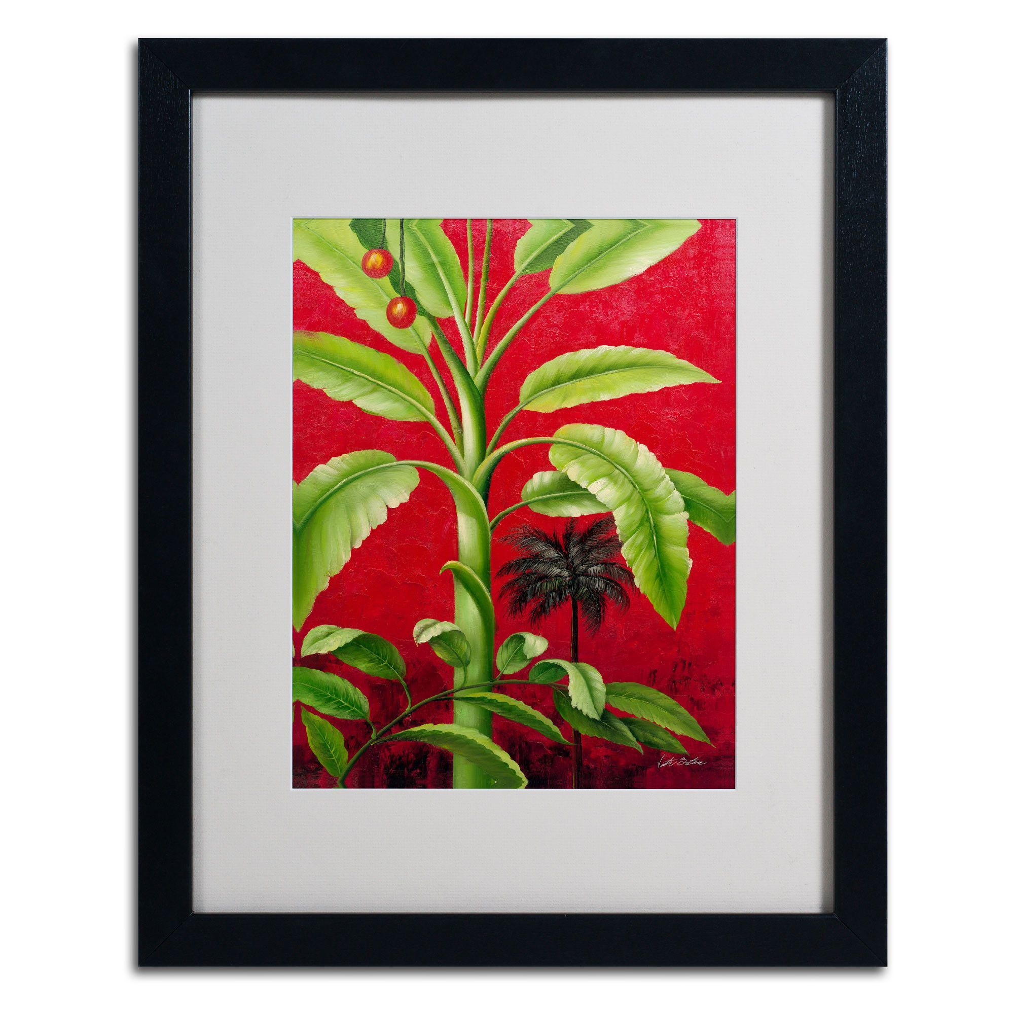 'Tropical Palm II' by Victor Giton Matted Framed Painting Print