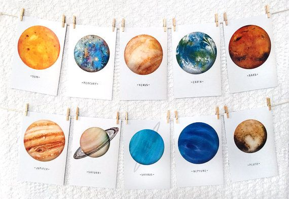 Pin By The House Of Gibson On Waterverven In 2020 Planet Drawing Solar System Planets Planet Painting