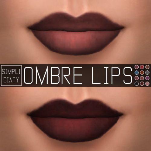 Vereinfachung: Ombre Lippen • Sims 4 Downloads –  Vereinfachung: Ombre Lippen …