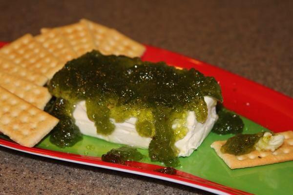 Jalapeño jelly and cream cheese