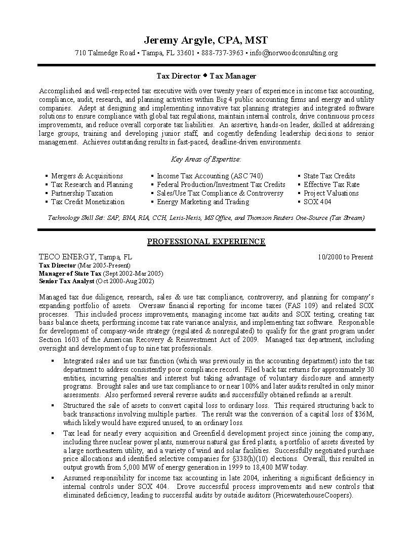 Tax Director Sample Resume Tax Manager Resume Becoming A Tax Manager Is A Vital Job To Applying For T Manager Resume Professional Writing Proposal Writing