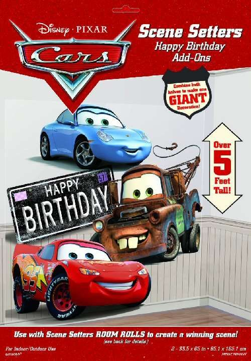 Disney Cars 3 Scene Setter Room Wall Decorating Kit Party Supplies Decorations
