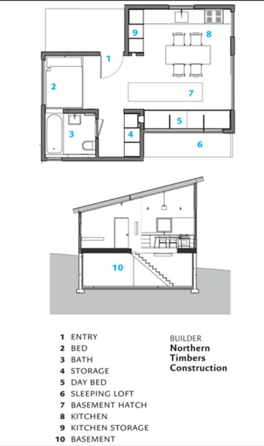 Architect Elizabeth Herrmann Builds Artist A Spacious Micro House Digital Trends Micro House Tiny House Inspiration House Floor Plans