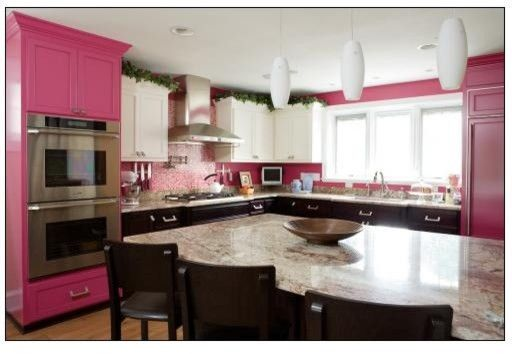 Dream Spaces image by Audrey | Pink kitchen, Pink kitchen ...