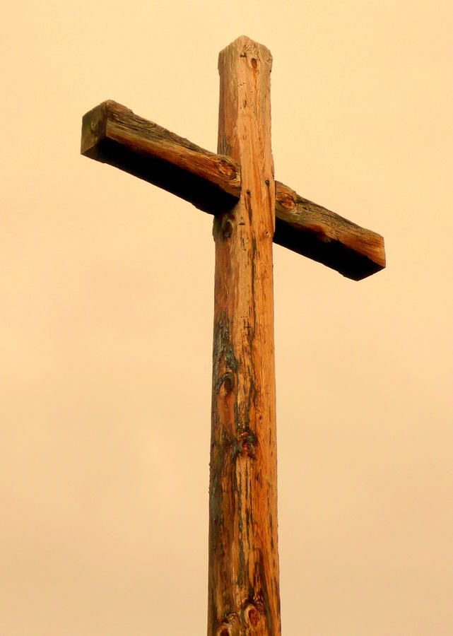 Wooden Cross Canvas Print / Canvas Art by Cindy Wright | Wooden ...
