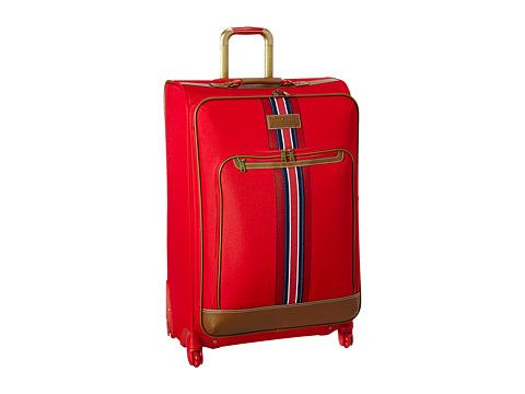 """TOMMY HILFIGER Nantucket 28"""" Upright Suitcase. #tommyhilfiger #bags #travel bags #canvas #polyester #suitcase #"""