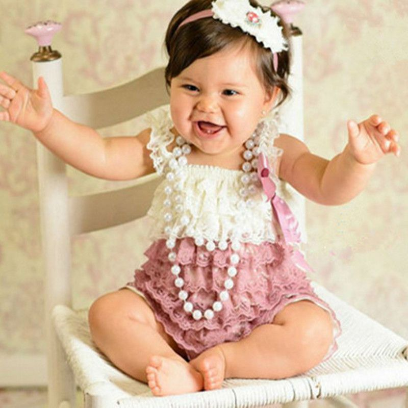 3faf5484285a Vintage Baby Lace Romper Newborn Cake Smash Lace Petti Romper Baby Girl  Christmas Jumpsuit Infant Next Birthday Clothes-in Rompers from Mother    Kids on ...