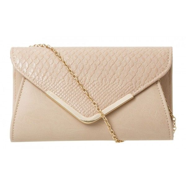 c6c00942086e Small Plain Clare Clutch found on Polyvore | Top Bags | Nude clutch ...