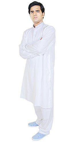 Mens Clothing Sets Kurta Pajama Set Indian Dress For Wedding White ...