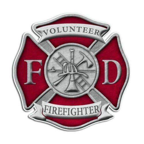 Red Fire Department Truck Decal