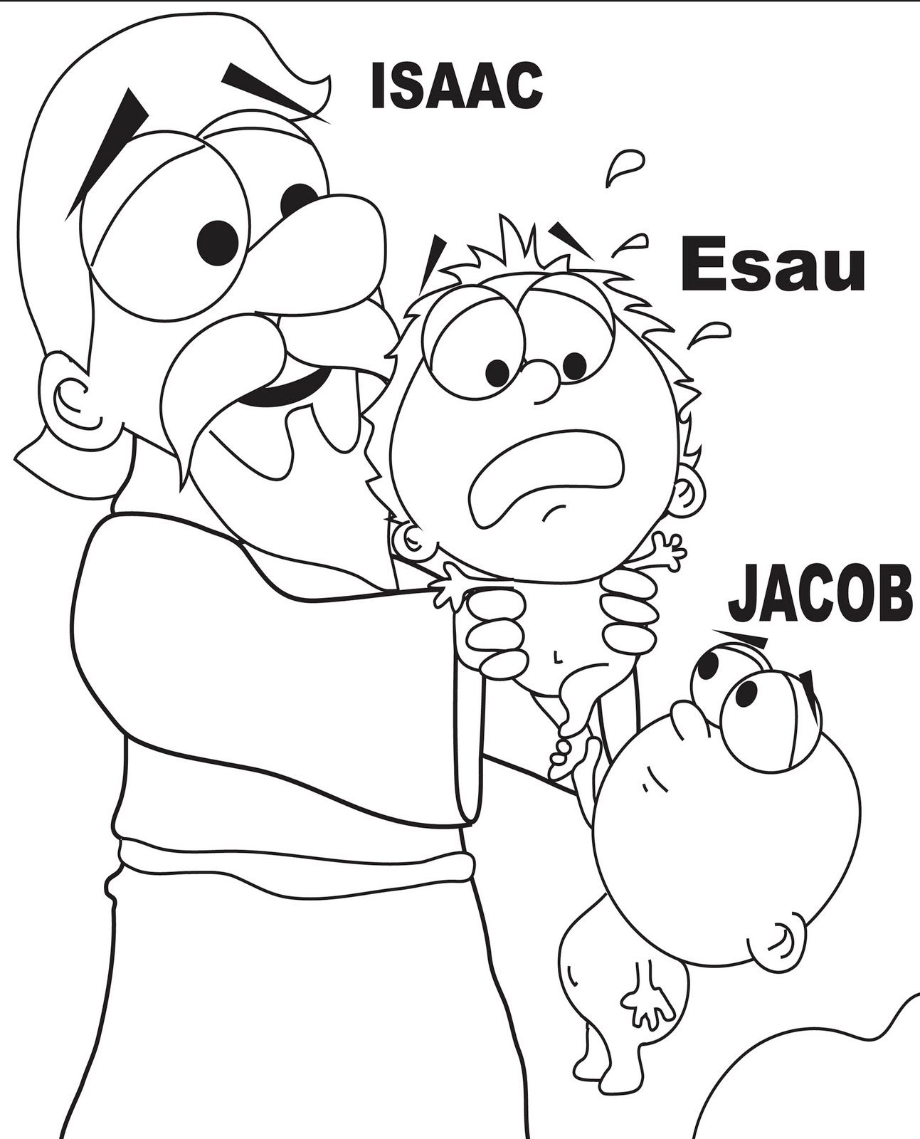 jacob and esau coloring page home bible lessons pinterest
