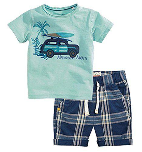 Jobakids Little Boys Short Set Summer Clothing Sets Cotton Shirts Short Sleeve Tee n Pants