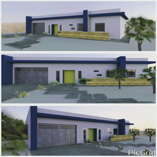 Palm Springs, residential remodel 3D renderings