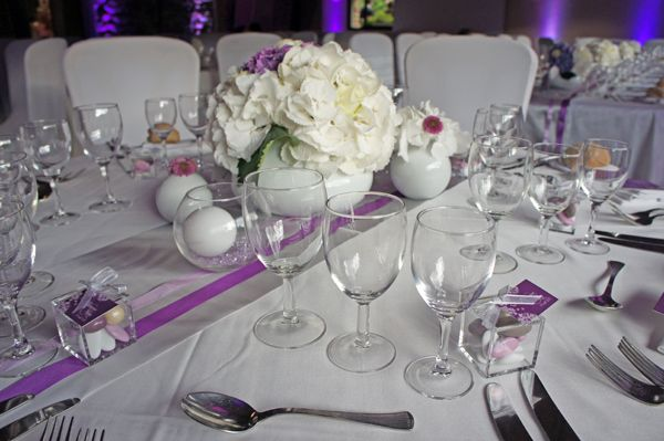 Mariage au domaine de turzon mariage and weddings for Centre de table argent