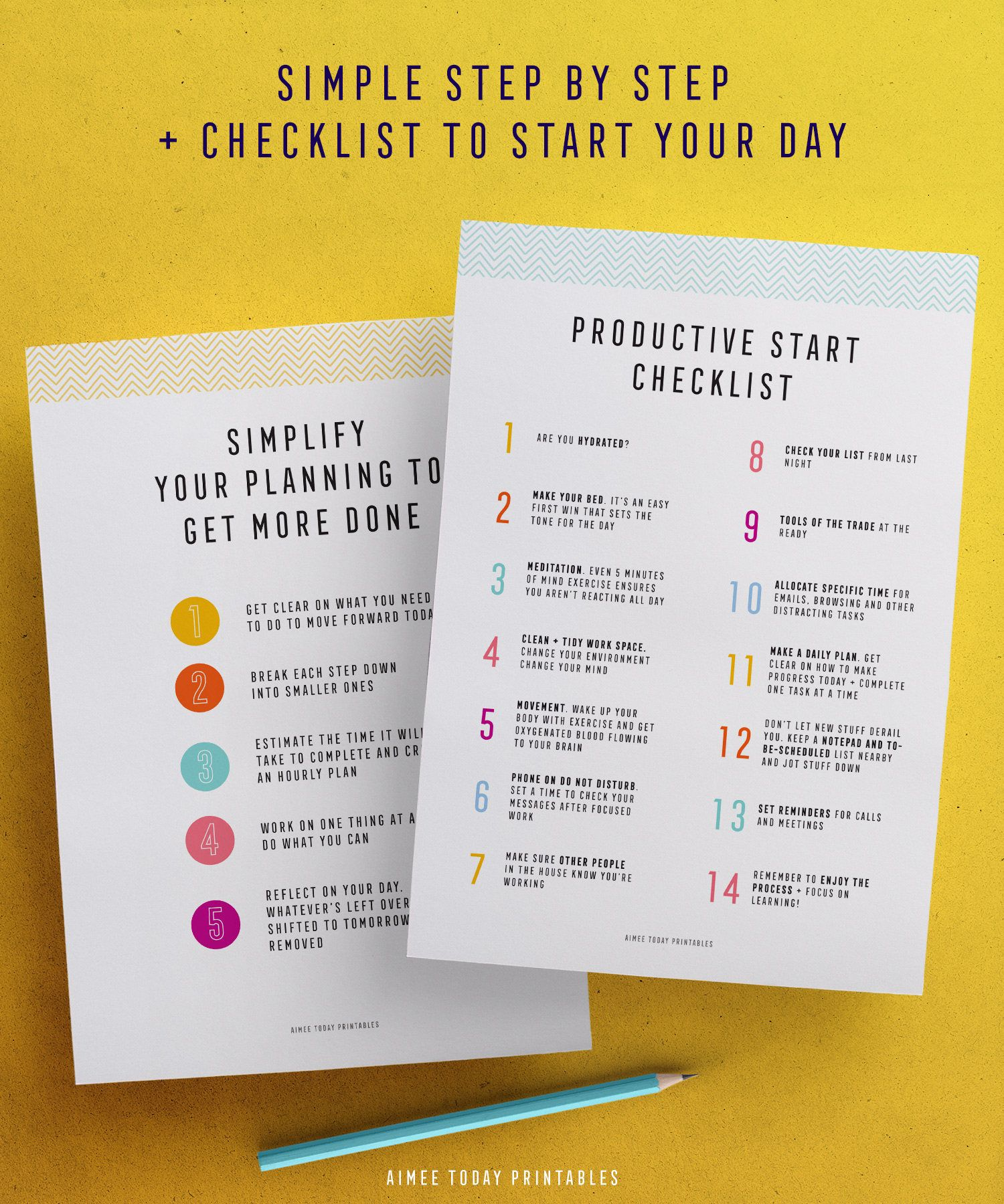 Daily Planner Printable planner Productivity Instant ...