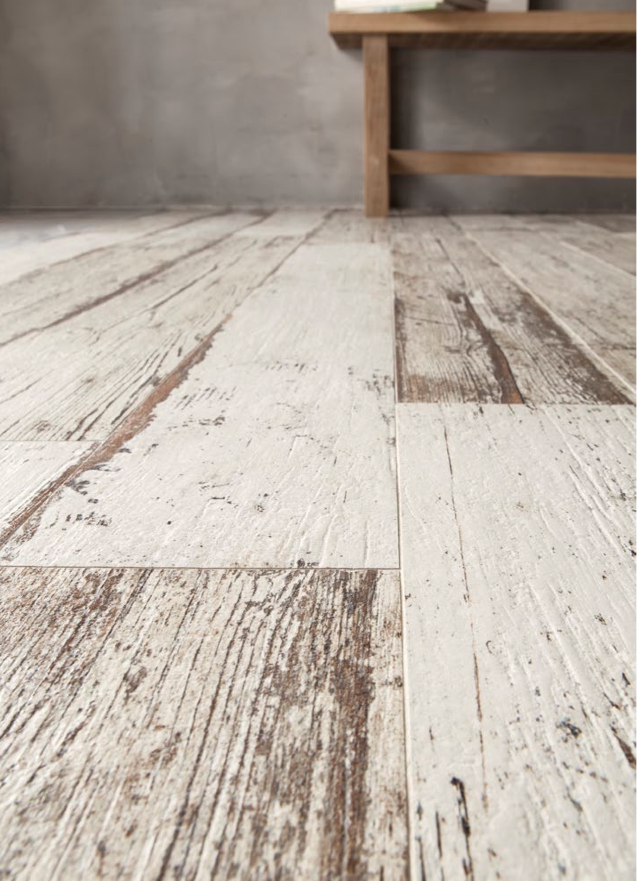 Rustic or beach style... this BLENDART natural whitewashed wood effect  porcelain tile is - Rustic Or Beach Style... This BLENDART Natural Whitewashed Wood