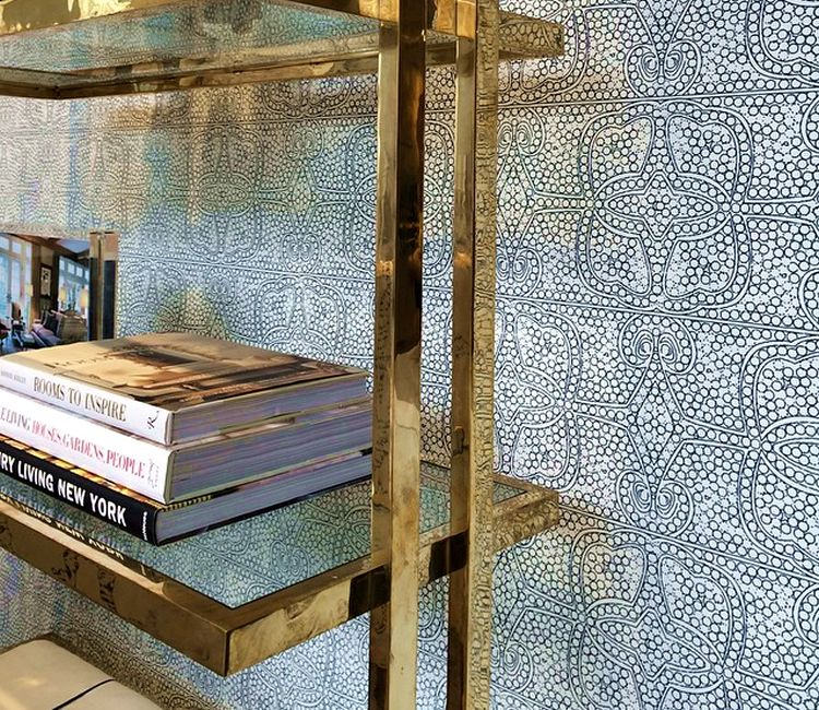 Cloth and paper persia wallpaper designer charlotte for Fabric store charlotte nc
