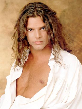 My Favorite Ricky Martin Look The General Hospital Days Ricky Martin Celebrities Long Hair Styles