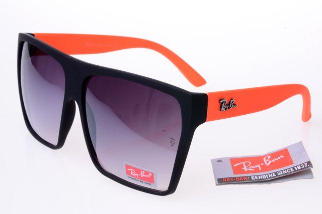 Ray-Ban Square 2128 Black Orange Frame Gray Lens RB1066 ...